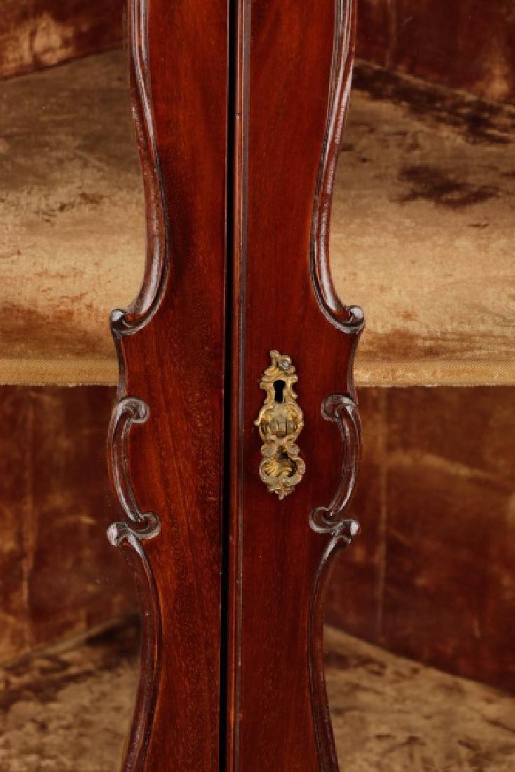 American Rococo Revival Mahogany Corner Cabinet - 3