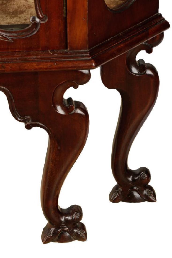 American Rococo Revival Mahogany Corner Cabinet - 4