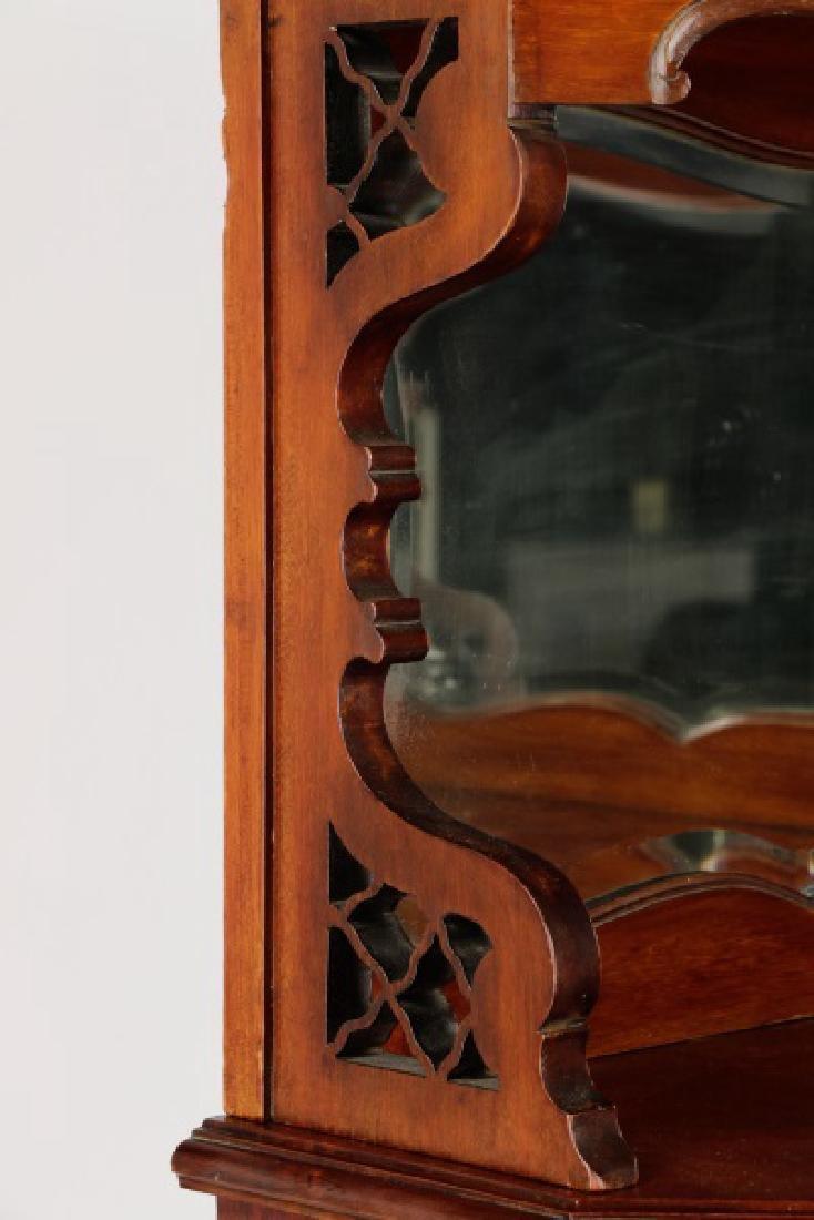 American Rococo Revival Mahogany Corner Cabinet - 6