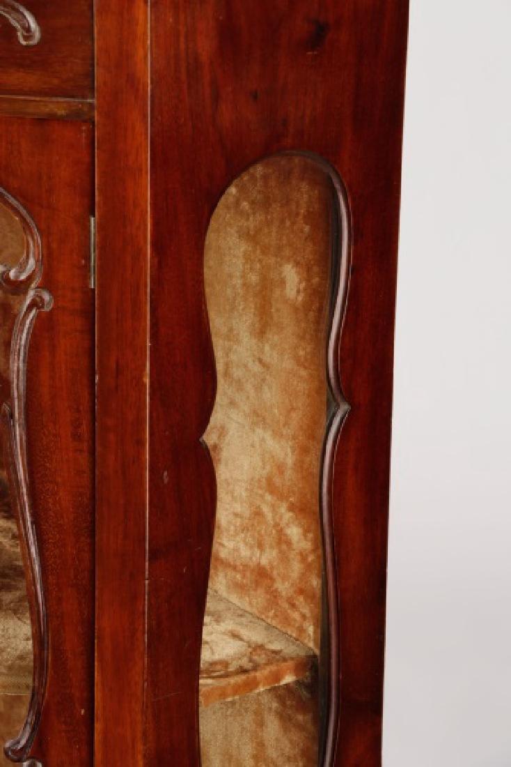 American Rococo Revival Mahogany Corner Cabinet - 7