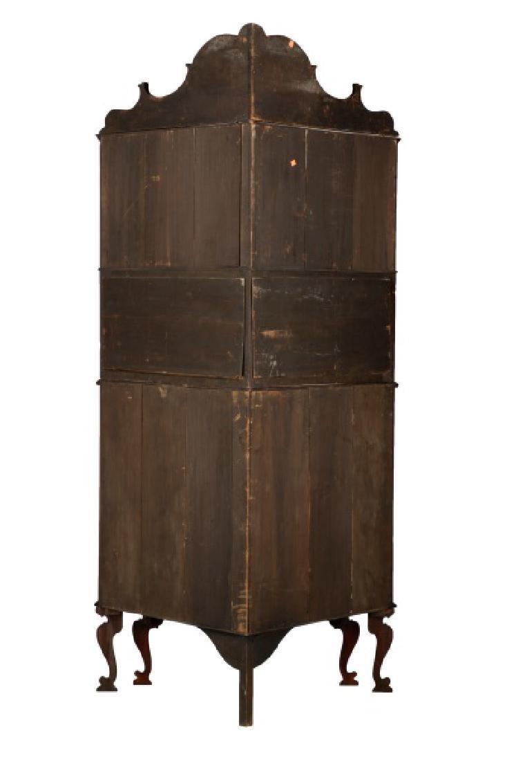 American Rococo Revival Mahogany Corner Cabinet - 8