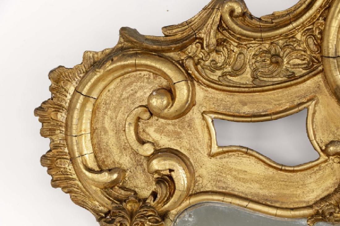 Rococo Revival Giltwood C-Scroll Mirror, 19th C - 3