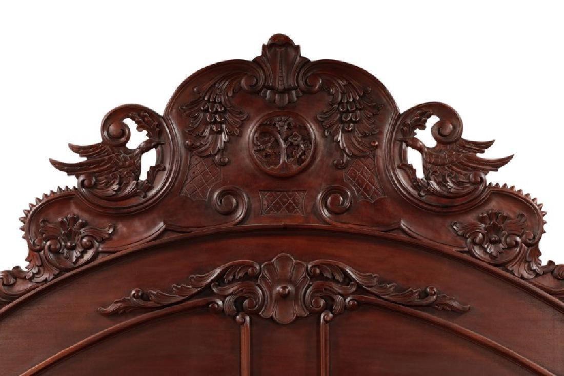 Mahogany Rococo Revival Style Tester Bed - 3
