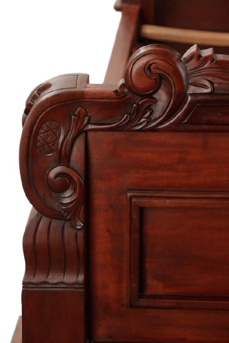 Mahogany Rococo Revival Style Tester Bed - 4