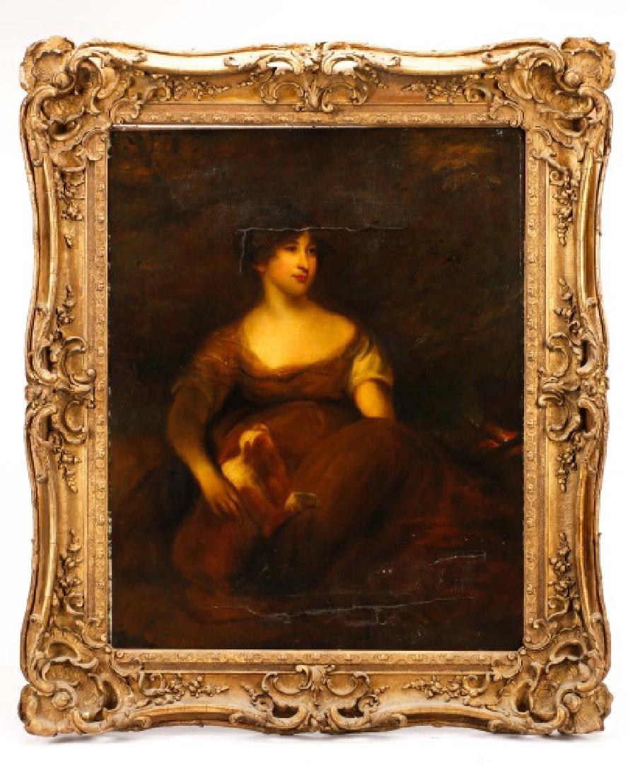 """Circle of John Hoppner, """"Portrait of a Lady"""", Oil"""