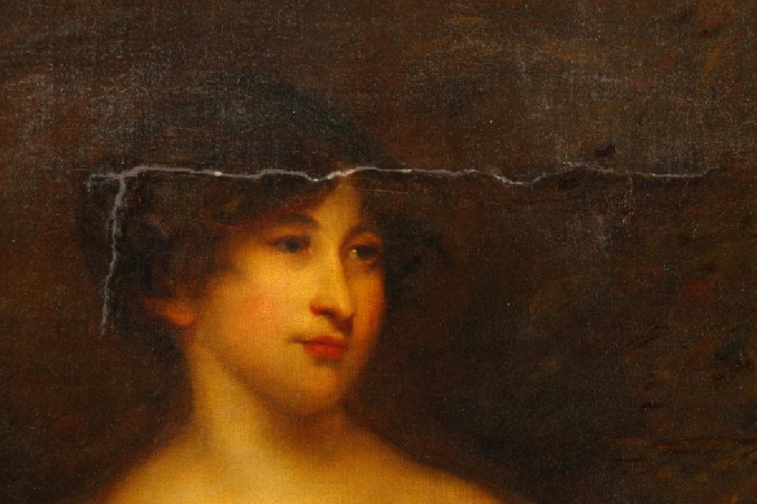 """Circle of John Hoppner, """"Portrait of a Lady"""", Oil - 2"""