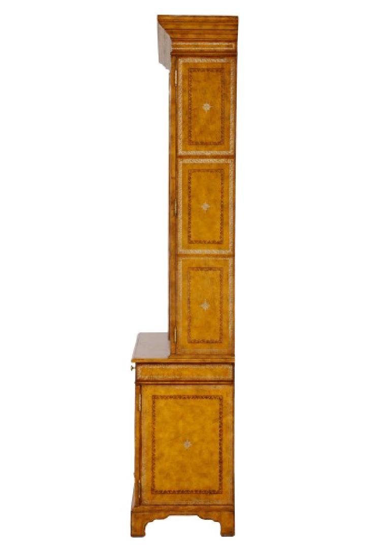 Maitland Smith Leather Covered Bookcase Cabinet - 10