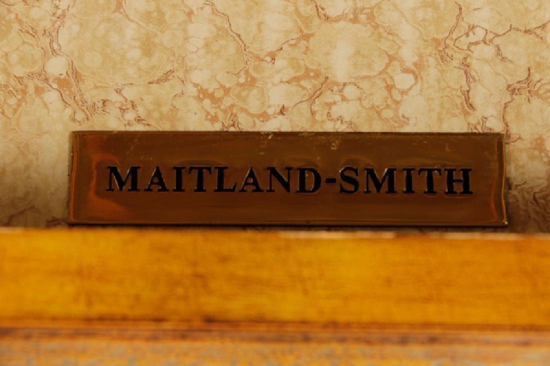 Maitland Smith Leather Covered Bookcase Cabinet - 5