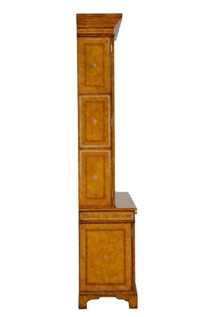 Maitland Smith Leather Covered Bookcase Cabinet - 7