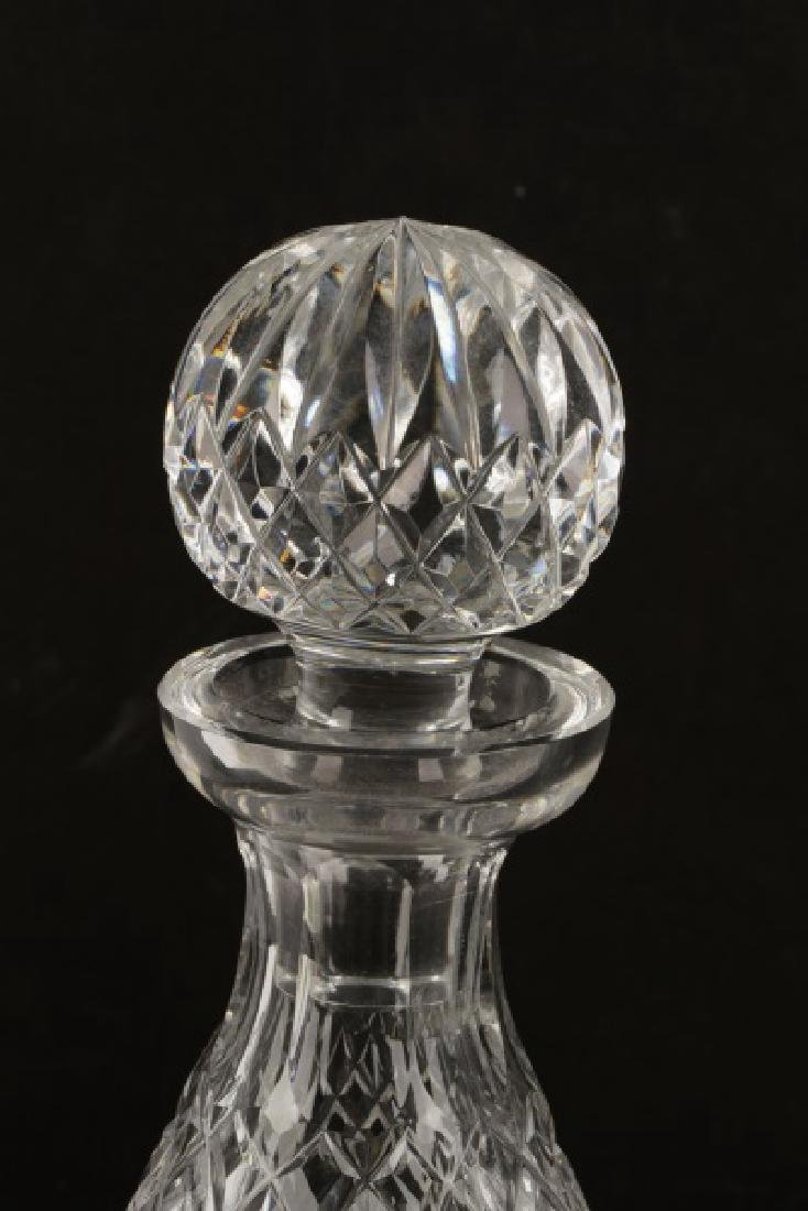 "3 Waterford Crystal Decanters in ""Alana"" Pattern - 6"