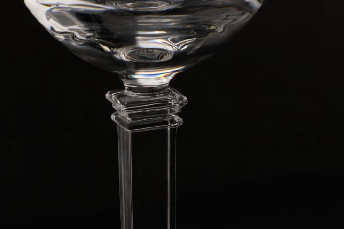 """Set of 4 Tiffany """"Hampton"""" White Wine Glasses - 2"""