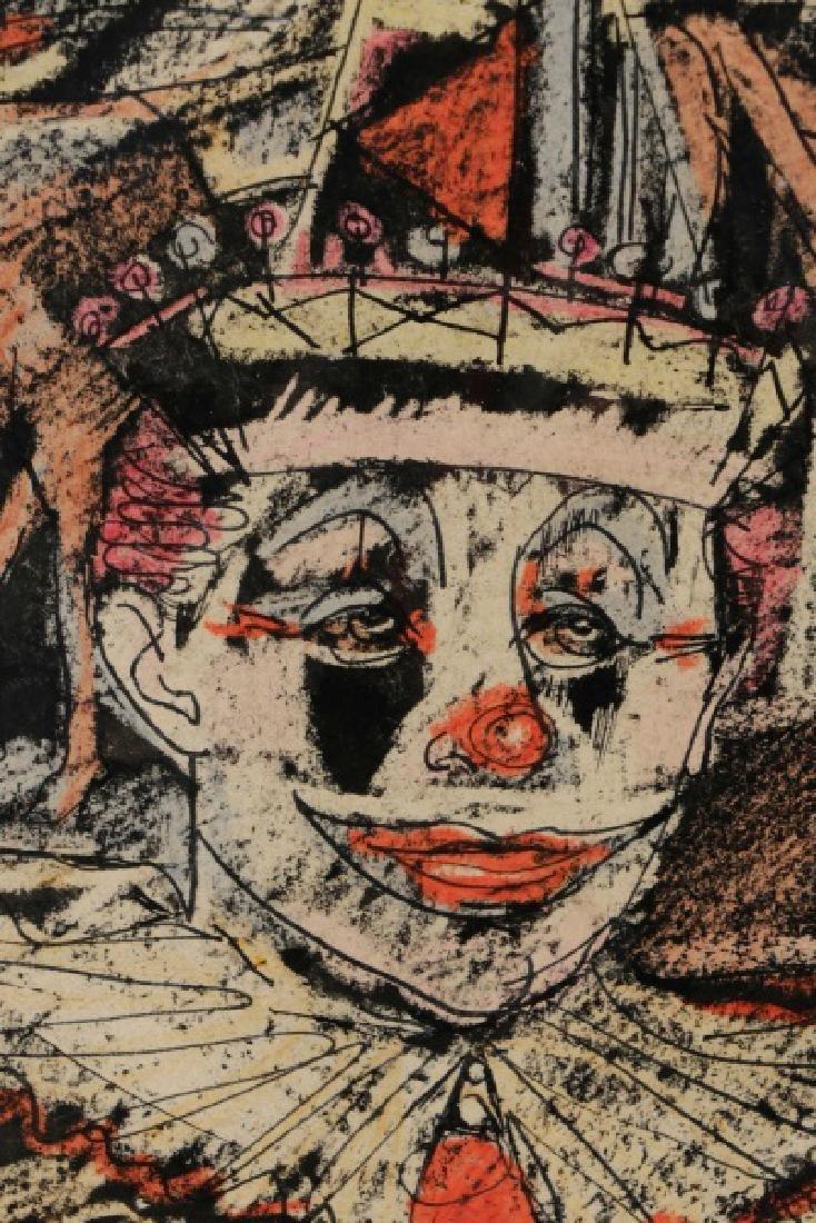 """Benjamin Shute, """"Clown Head"""", Mixed Media - 3"""