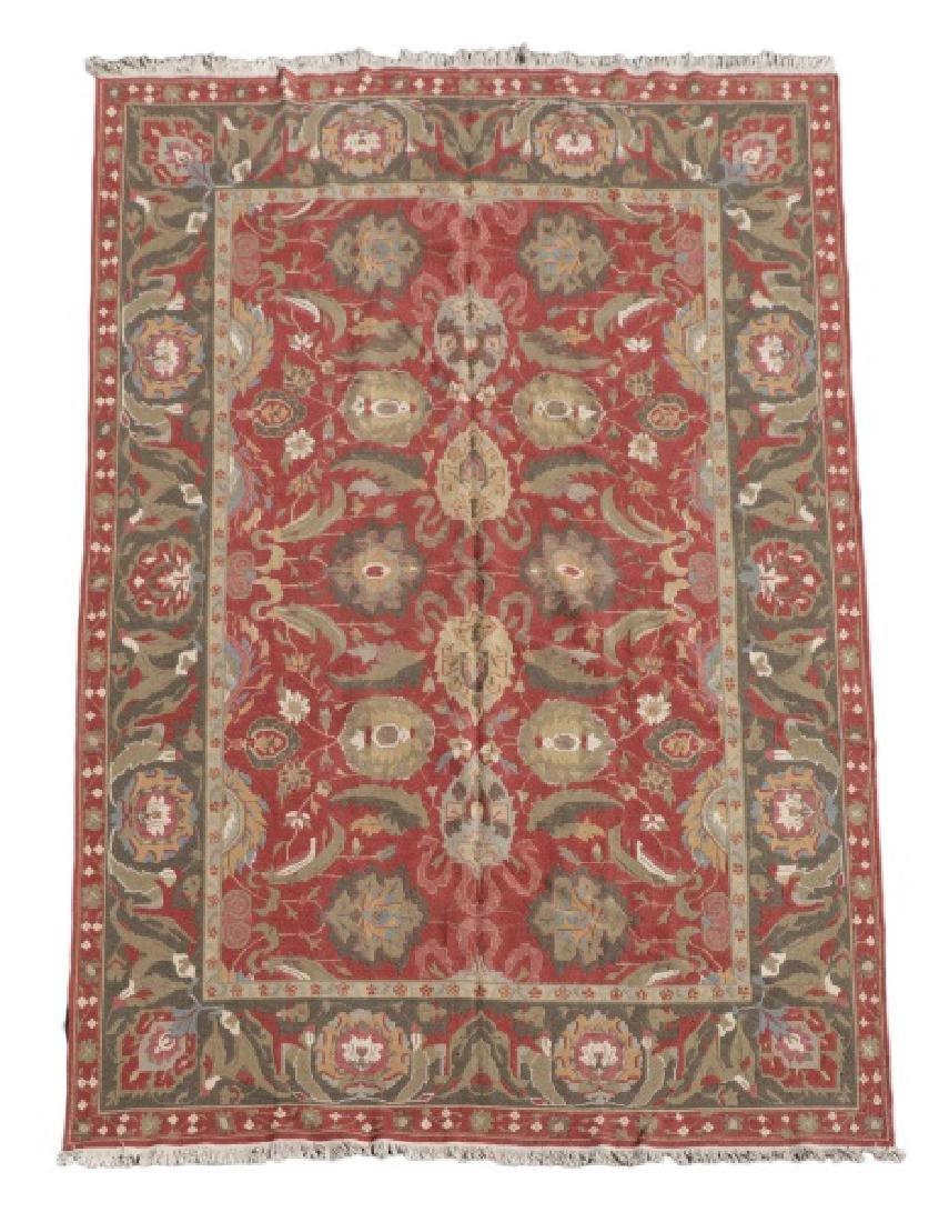 Hand Woven Soumak Area Rug, Approx 9' x 12'