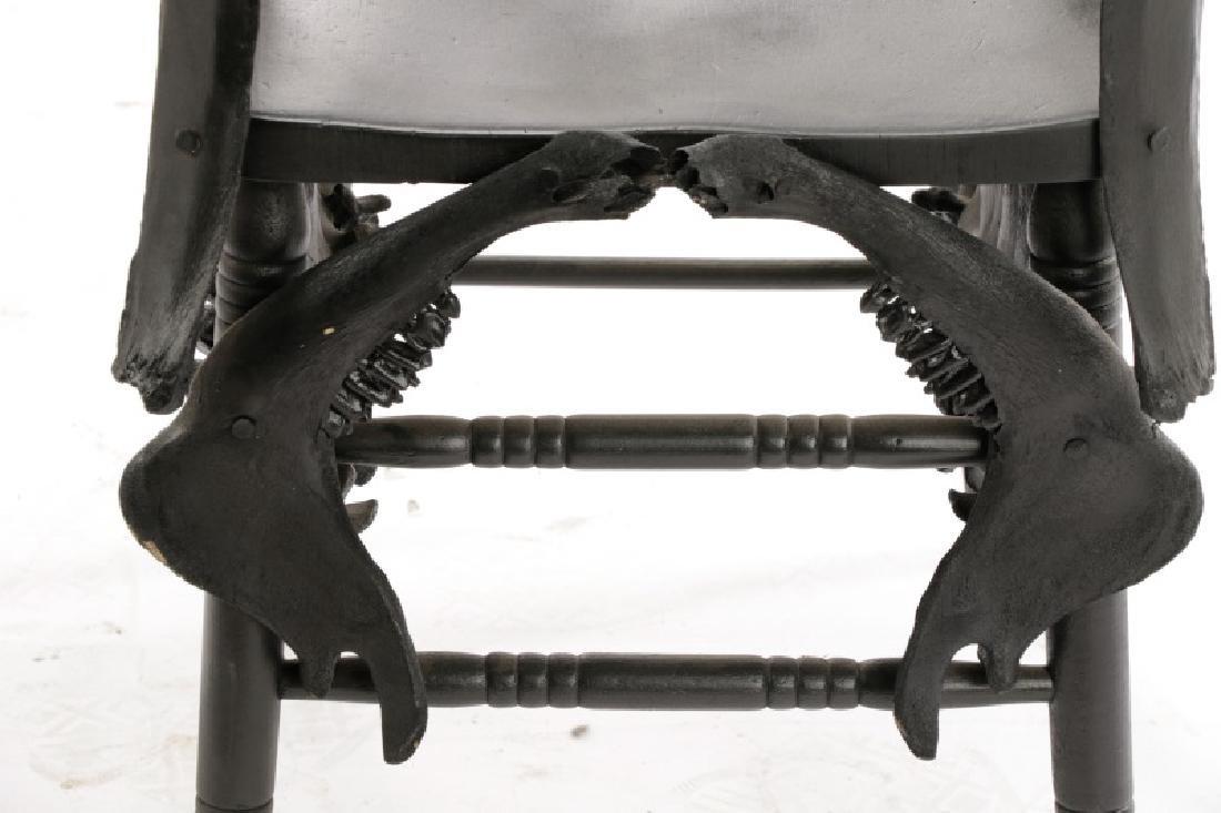 Modernist Macabre Cow Bone Specimen Chair - 4
