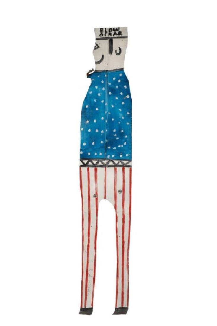 """R.A. Miller, """"Blow Oskar"""", Folk Art Sculpture"""