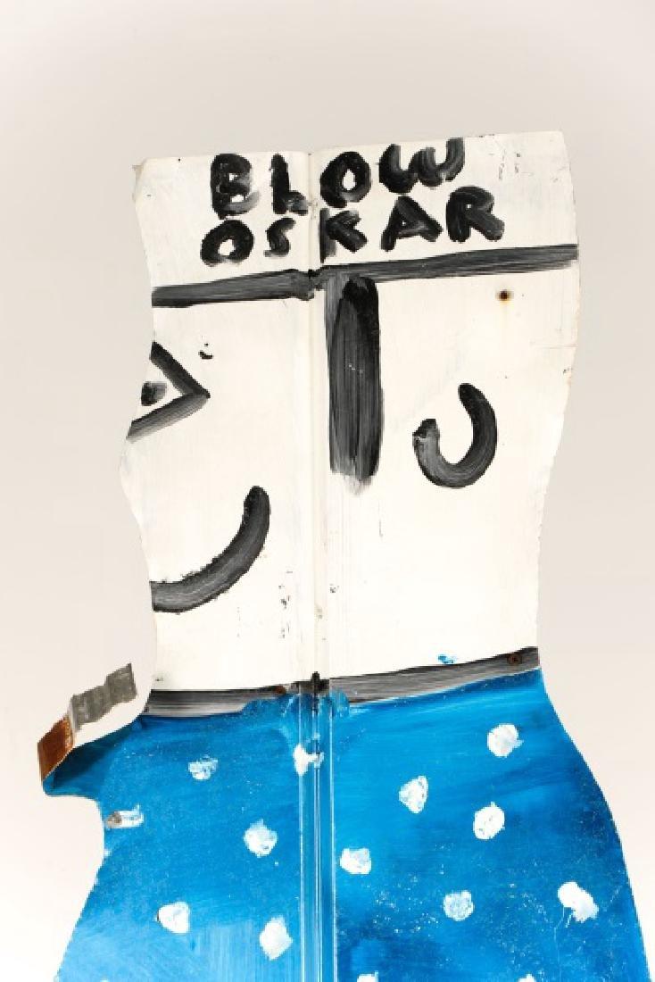"""R.A. Miller, """"Blow Oskar"""", Folk Art Sculpture - 2"""