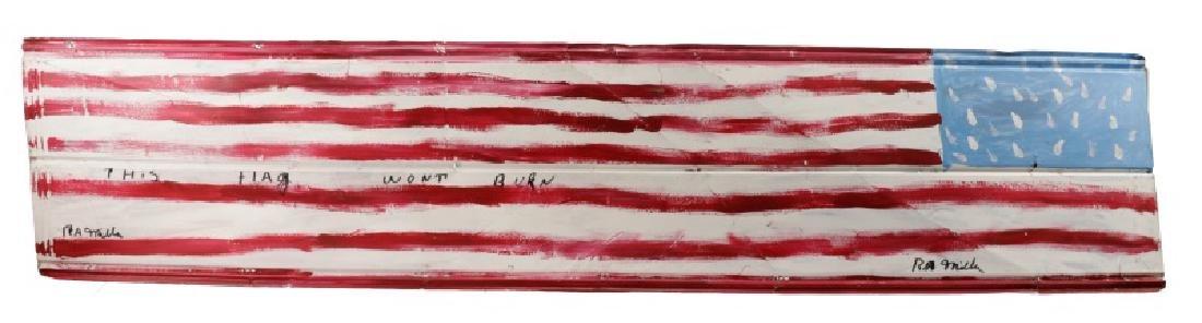 "R.A. Miller, ""This Flag Won't Burn"", Folk Art"