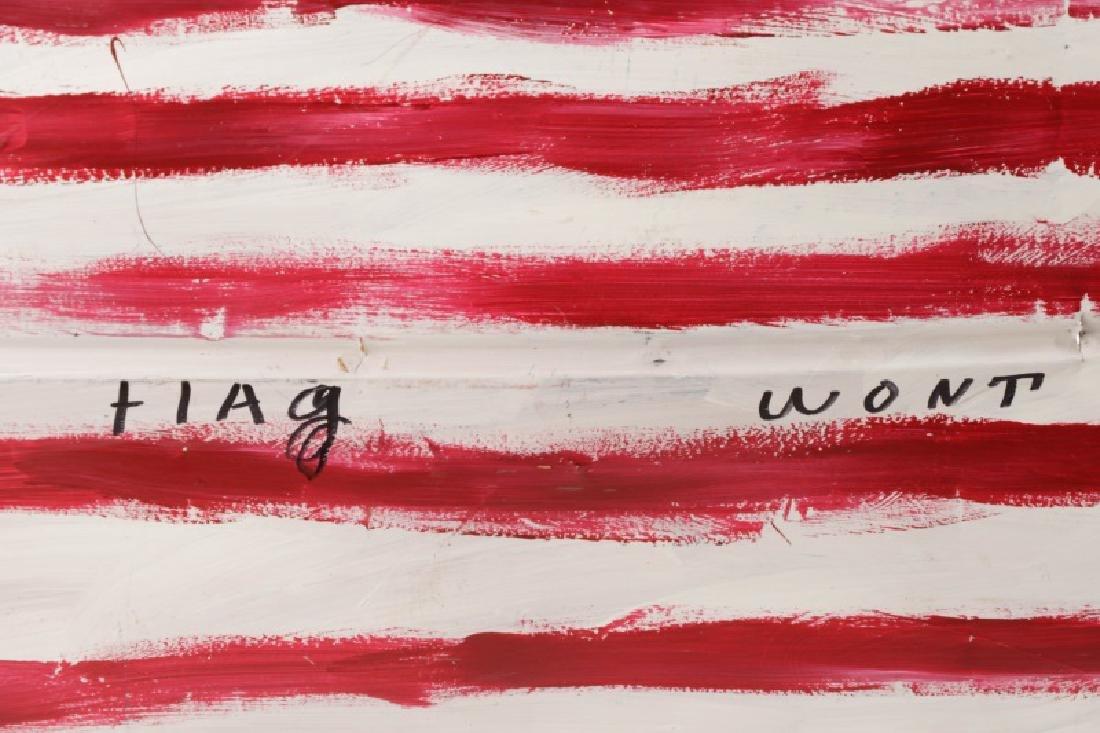 "R.A. Miller, ""This Flag Won't Burn"", Folk Art - 2"