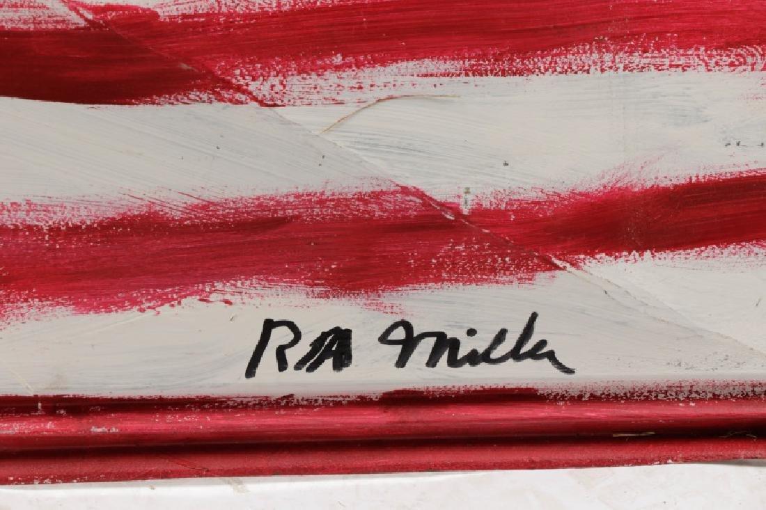 "R.A. Miller, ""This Flag Won't Burn"", Folk Art - 4"