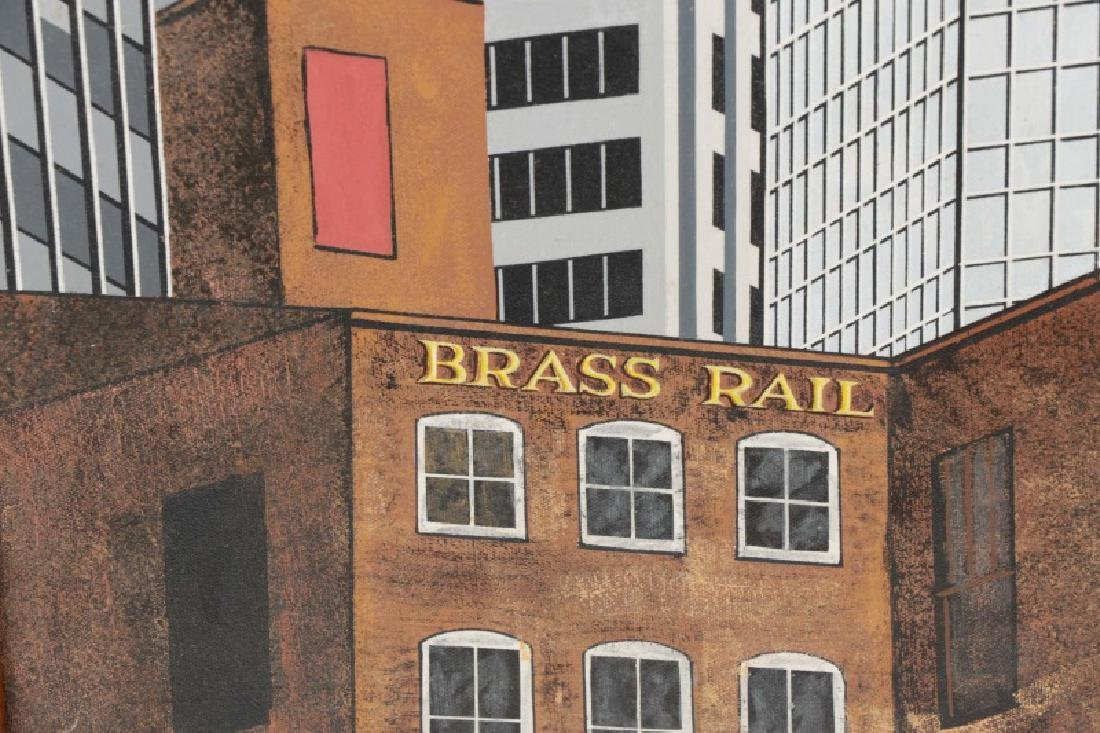 "Roy Ahlgren, ""Brass Rail""-1991, Acrylic on Canvas - 5"