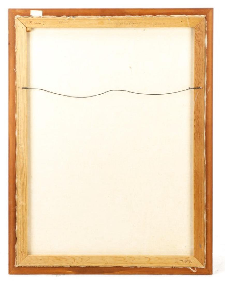 "Roy Ahlgren, ""Brass Rail""-1991, Acrylic on Canvas - 9"