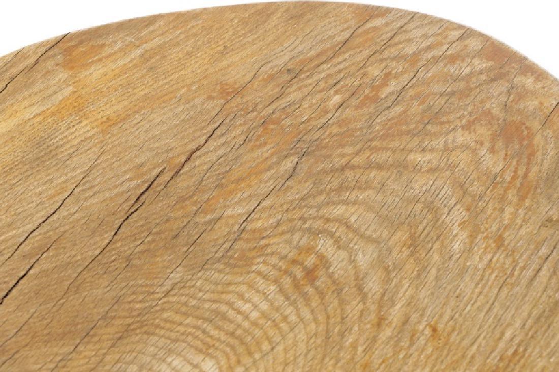 Bohemian Chic Rustic Oak Slab Trestle Table - 7
