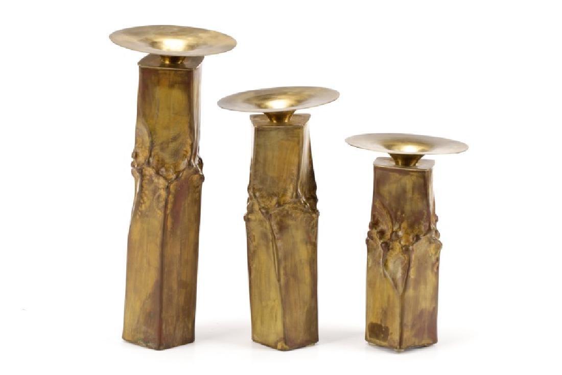 "Three Thomas Roy Markusen ""Classic"" Candlesticks"