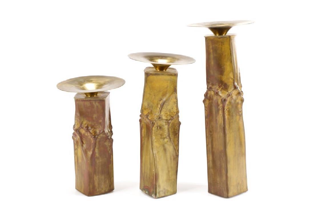 "Three Thomas Roy Markusen ""Classic"" Candlesticks - 6"