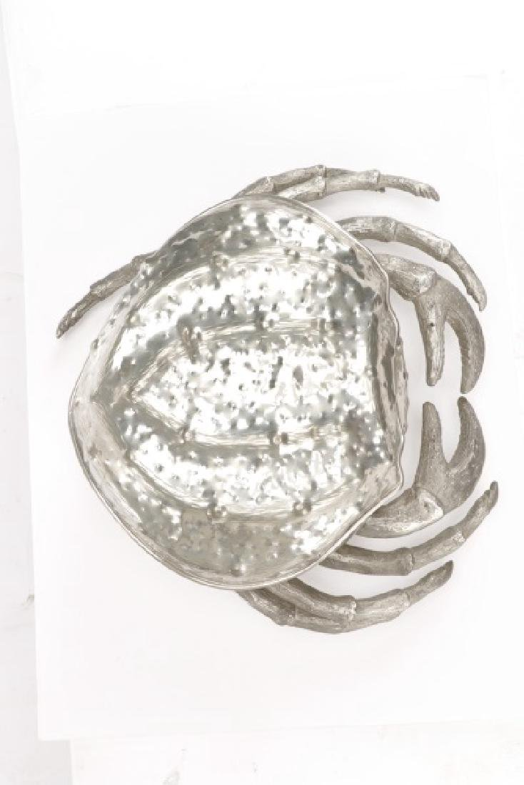 Whimsical Italian Pewter Crab Form Covered Box - 6