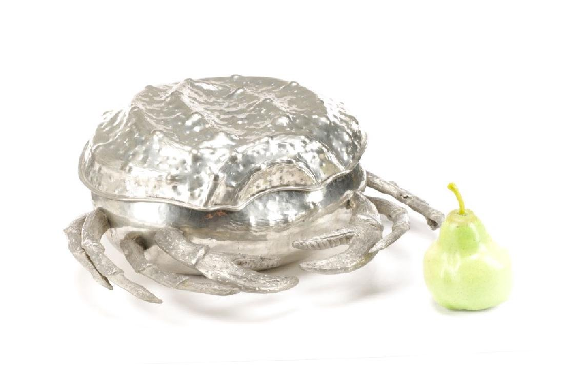 Whimsical Italian Pewter Crab Form Covered Box - 7