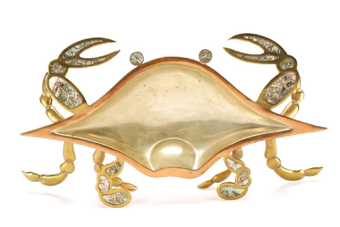 Mexican Brass, Copper, and Abalone Crab Dish