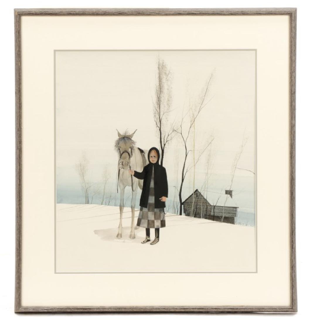 "Patricia Buckley Moss, ""Woman and Horse""-1973"