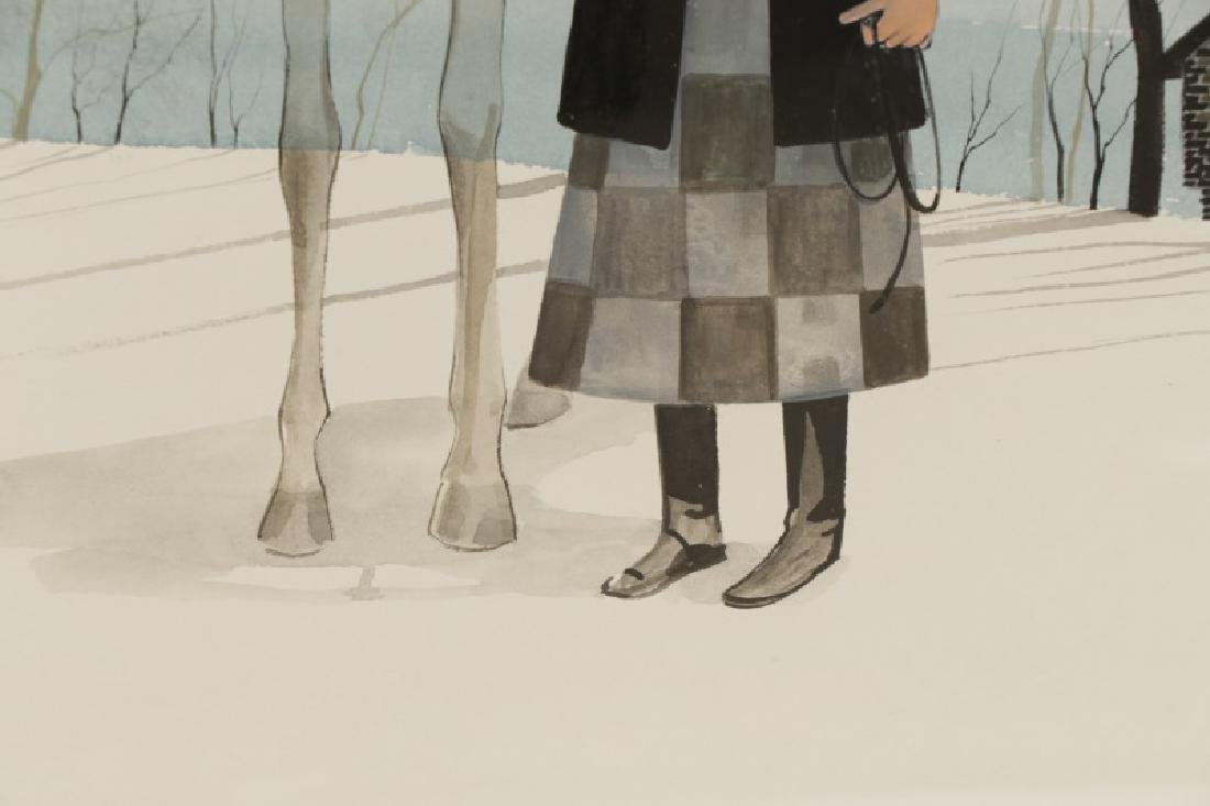 "Patricia Buckley Moss, ""Woman and Horse""-1973 - 6"