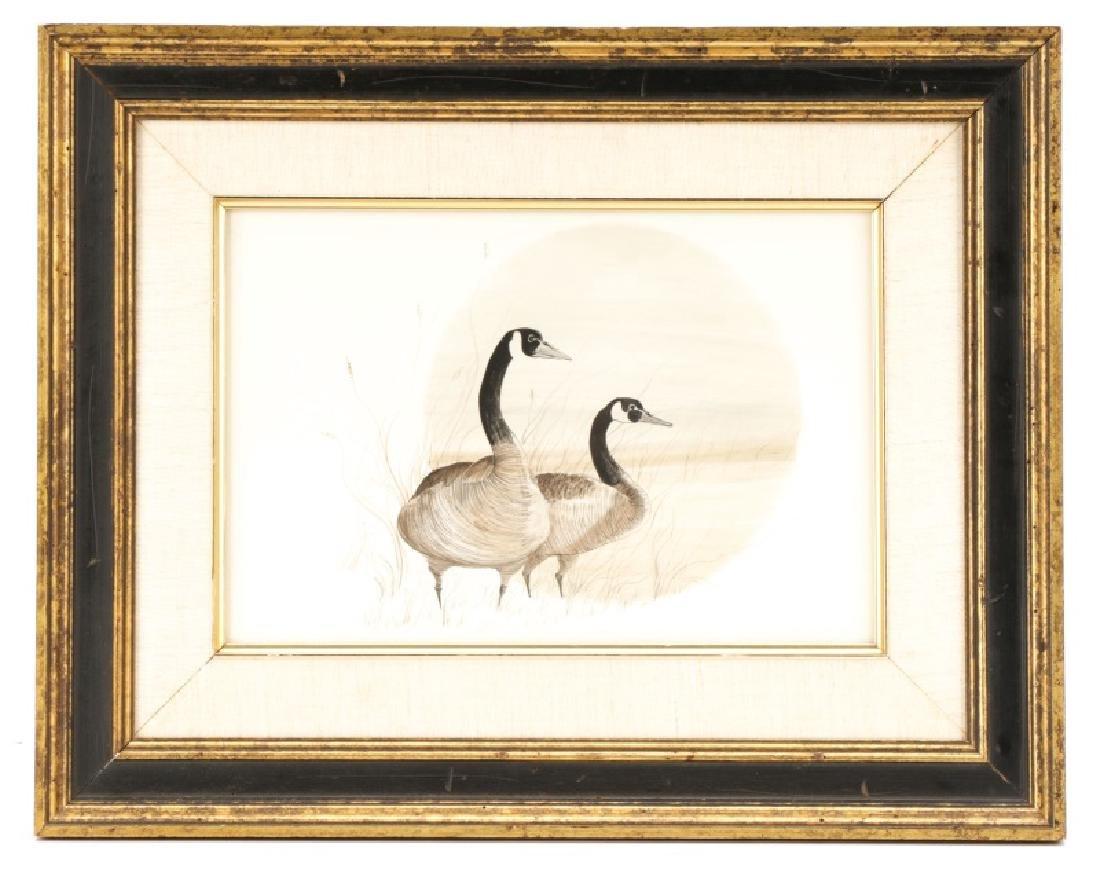 "Patricia Buckley Moss, ""Geese""-1975, Watercolor"