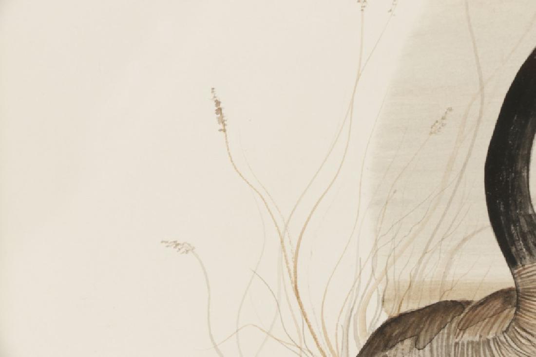 "Patricia Buckley Moss, ""Geese""-1975, Watercolor - 4"