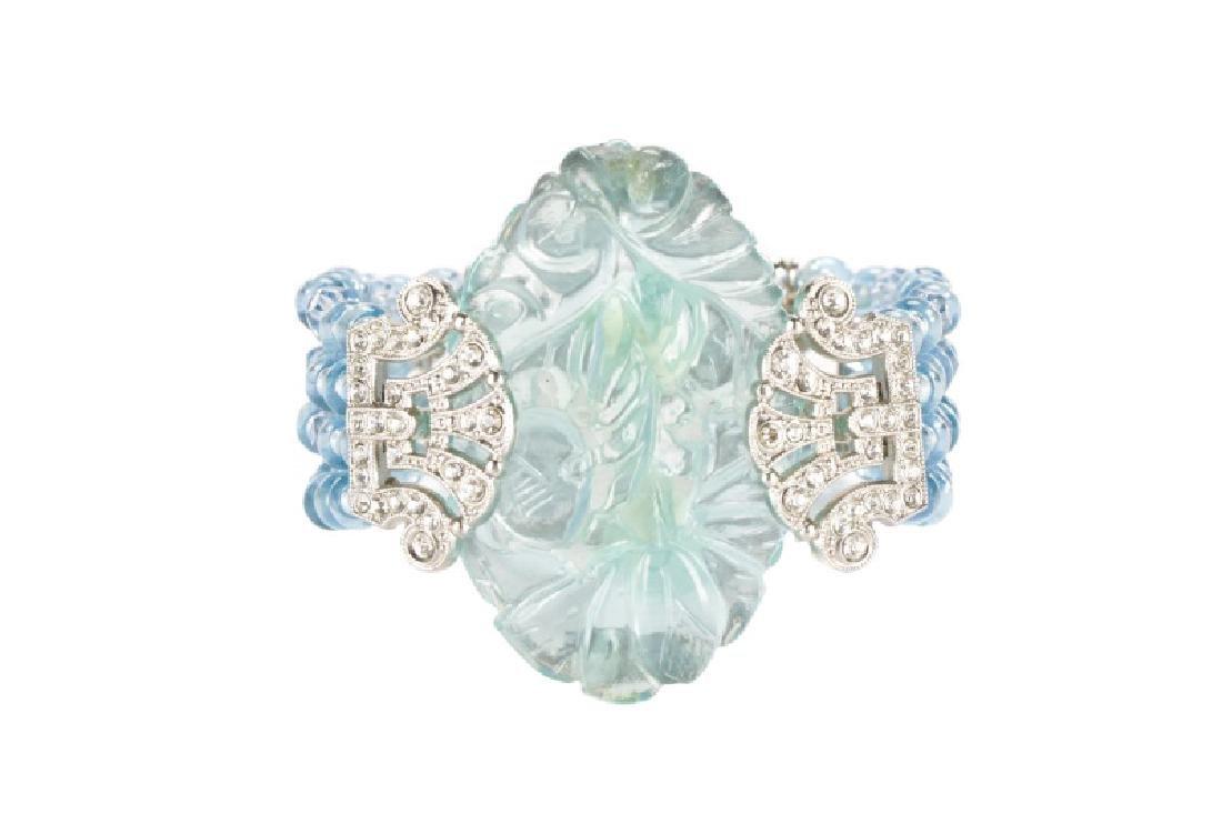 Carlo Zini Cuff Aqua Blue Cuff Bracelet