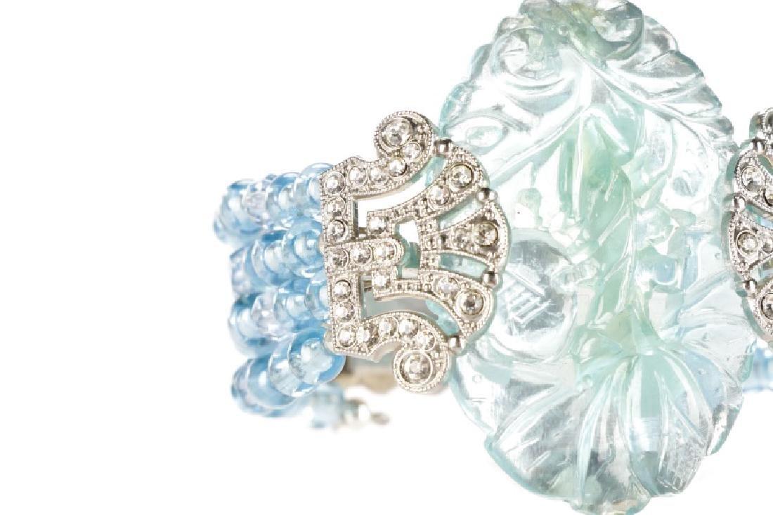Carlo Zini Cuff Aqua Blue Cuff Bracelet - 2