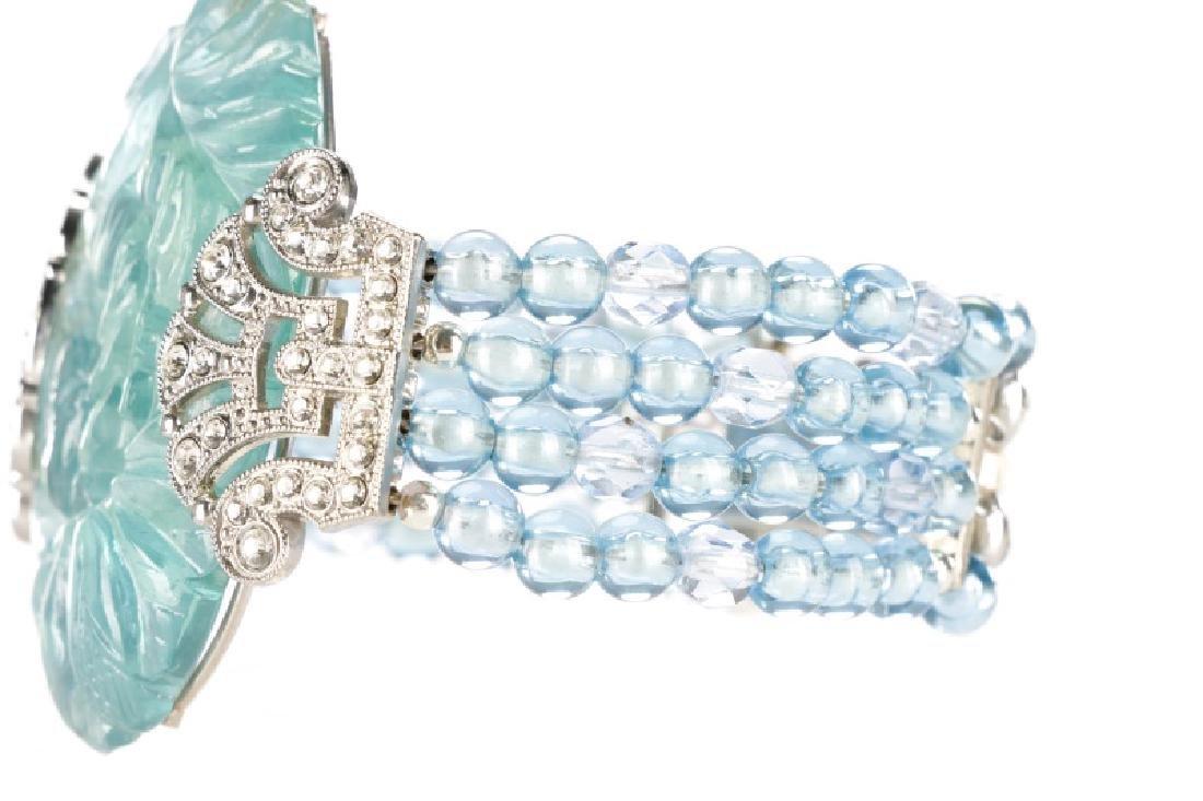 Carlo Zini Cuff Aqua Blue Cuff Bracelet - 3