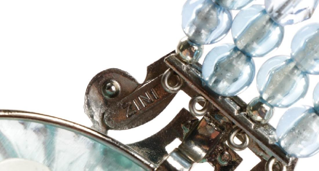 Carlo Zini Cuff Aqua Blue Cuff Bracelet - 5