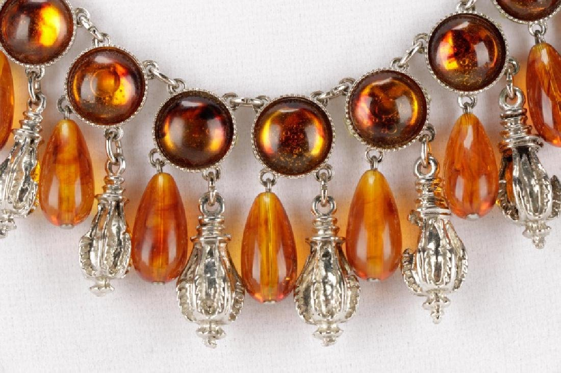 Carlo Zini Amber Necklace & Earring Set - 2