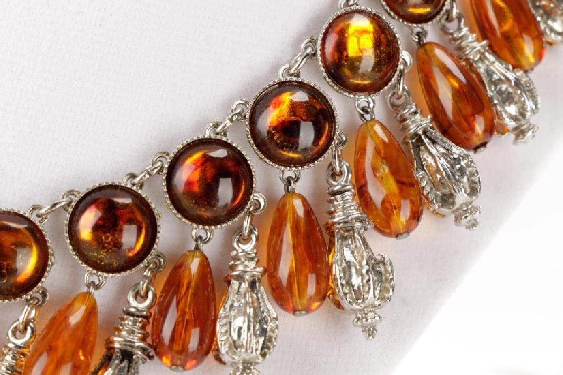 Carlo Zini Amber Necklace & Earring Set - 3