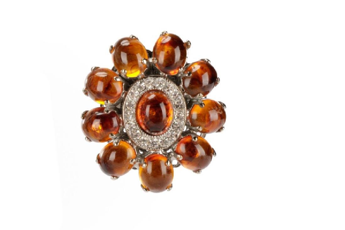 Carlo Zini Amber Necklace & Earring Set - 4