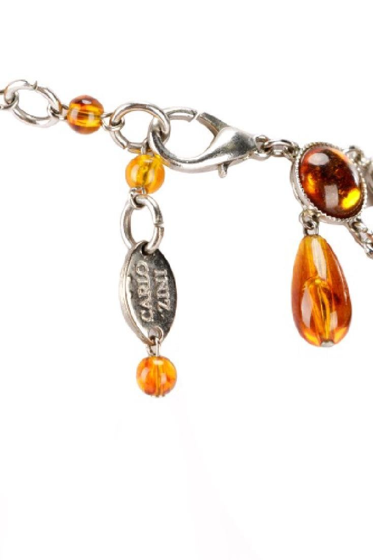 Carlo Zini Amber Necklace & Earring Set - 5