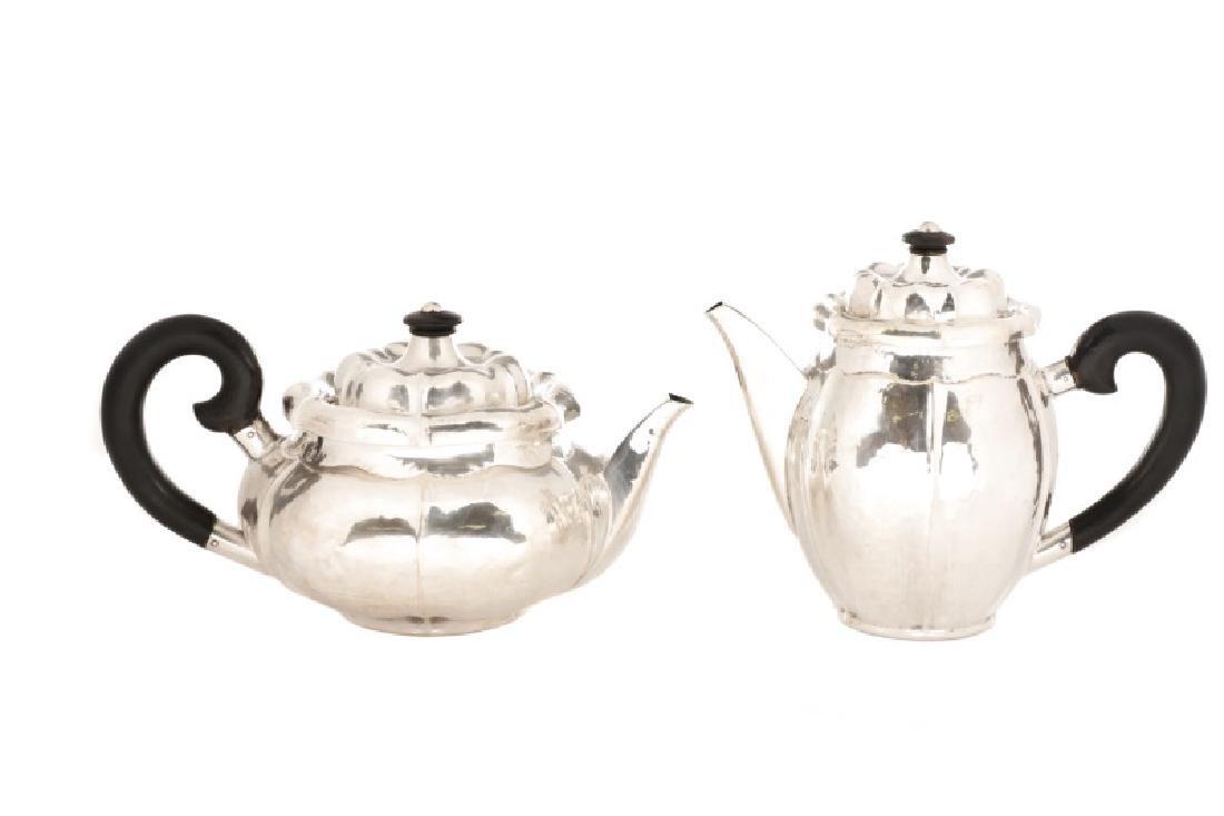 Silver Teapot & Coffee Pot, Manner of Sanborns