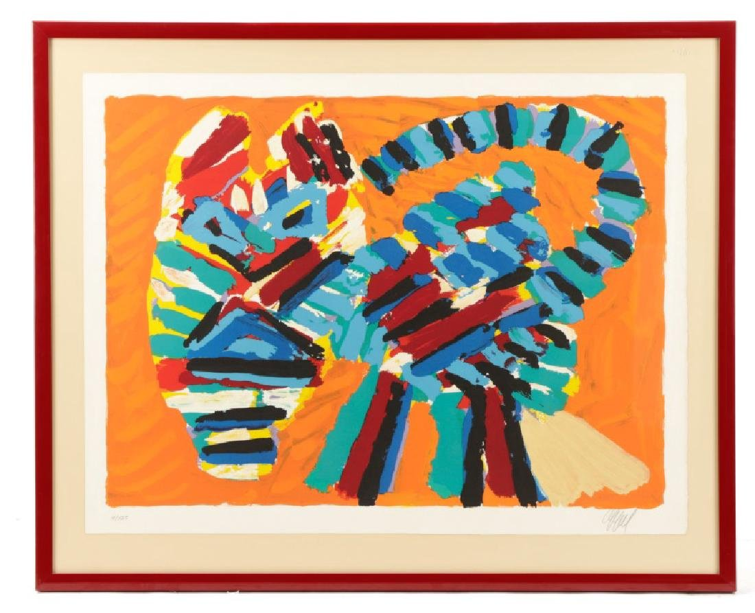 "Karel Appel, ""Cat"", Lithograph in Colors, Signed"