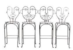 Set, 4 Frederick Weinberg Style Figural Barstools