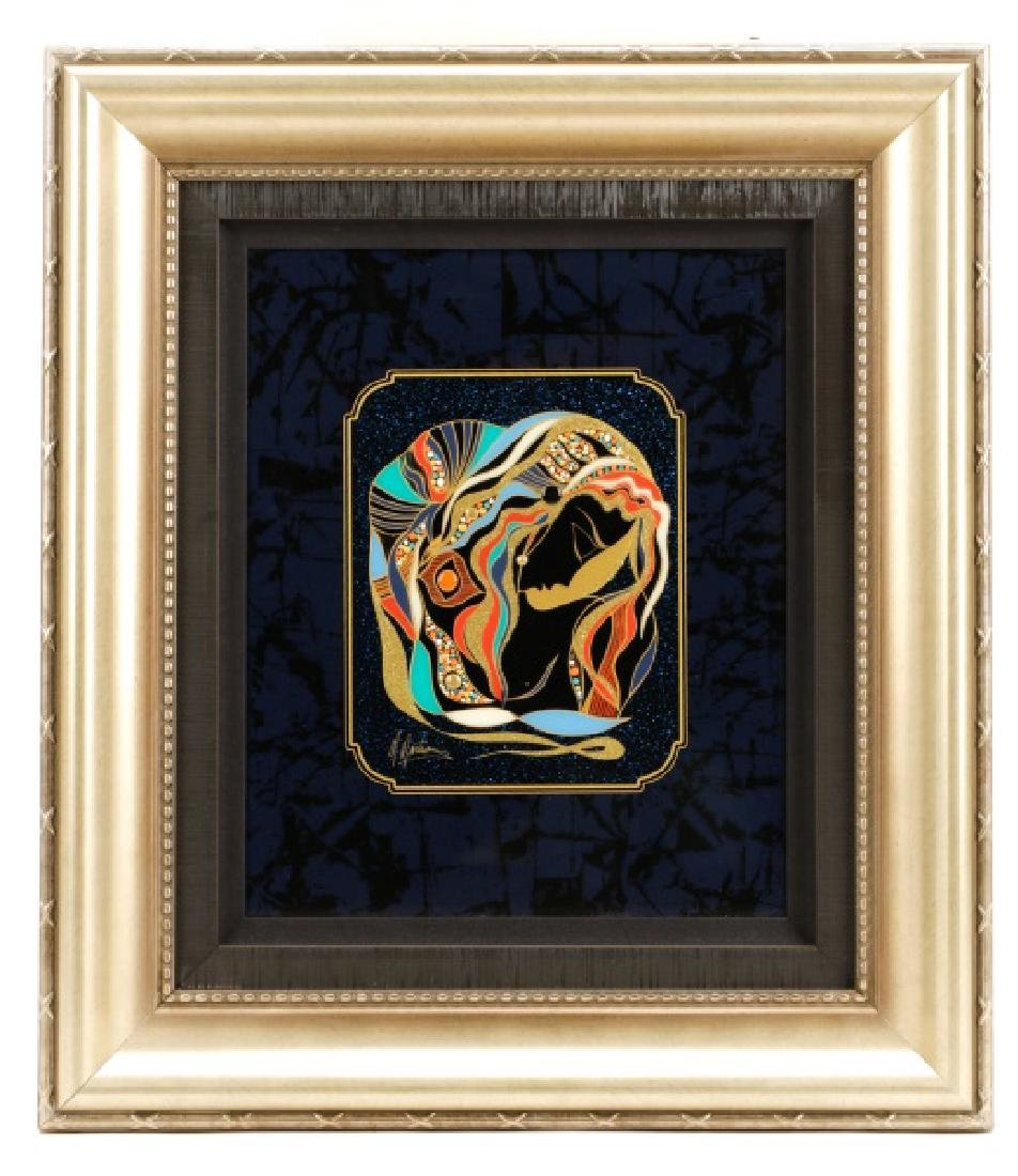 "Martiros Manoukian, ""Golden..."", Mixed Media"