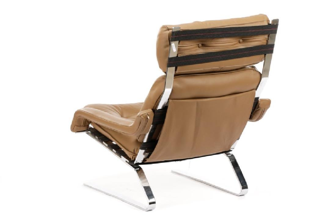 Mid Century Modern Cantilever Chrome Lounge Chair - 10
