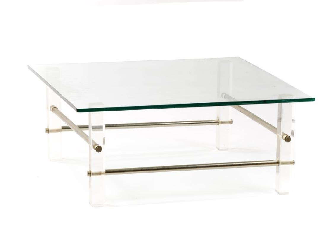 Lucite Coffee Table.Style Of Charles Hollis Jones Lucite Coffee Table