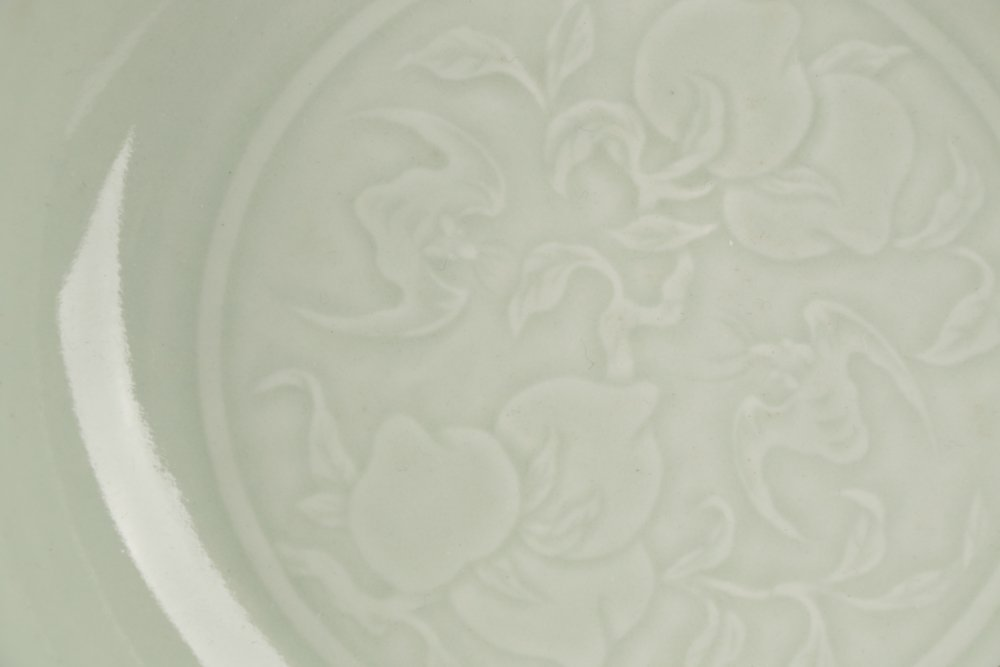 Chinese Celadon Glazed Shallow Bowl, Yongzheng - 3